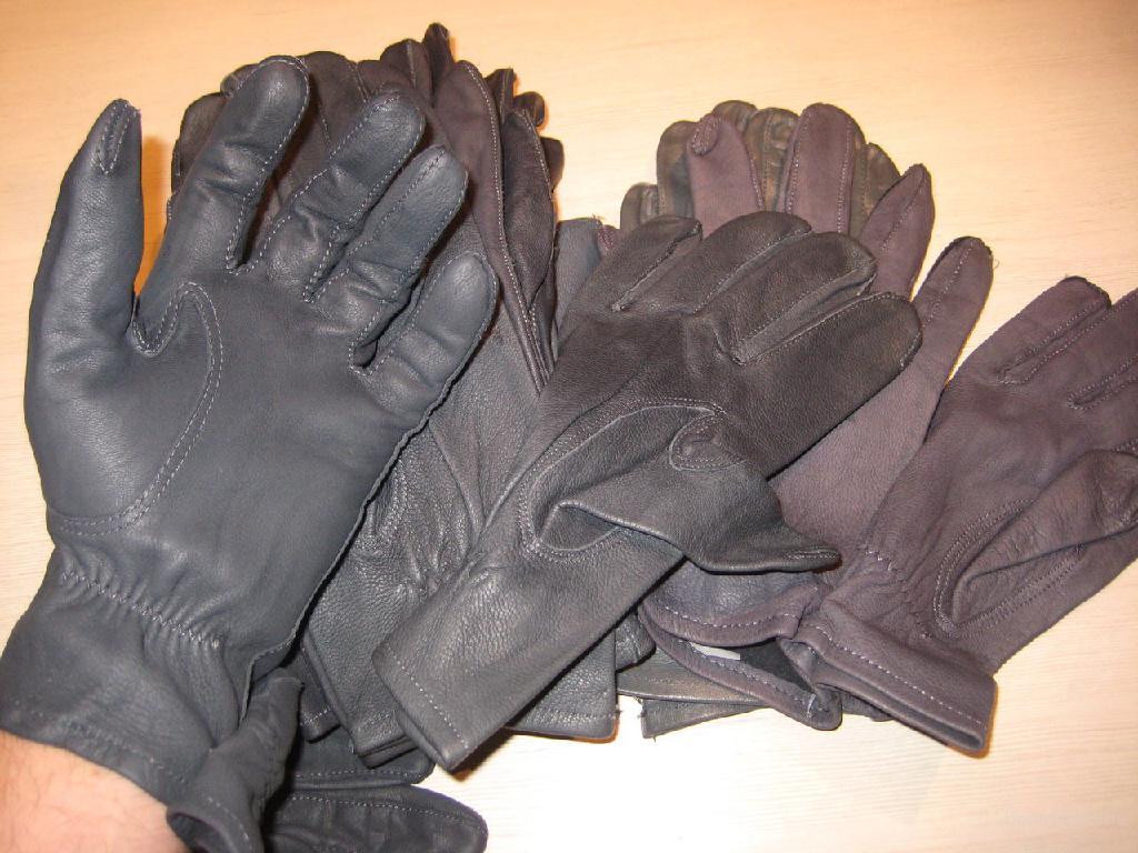 Перчатки для мужчин и женщин из стрейча и кожи