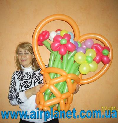 Оформление воздушными шарами, подарки из шаров