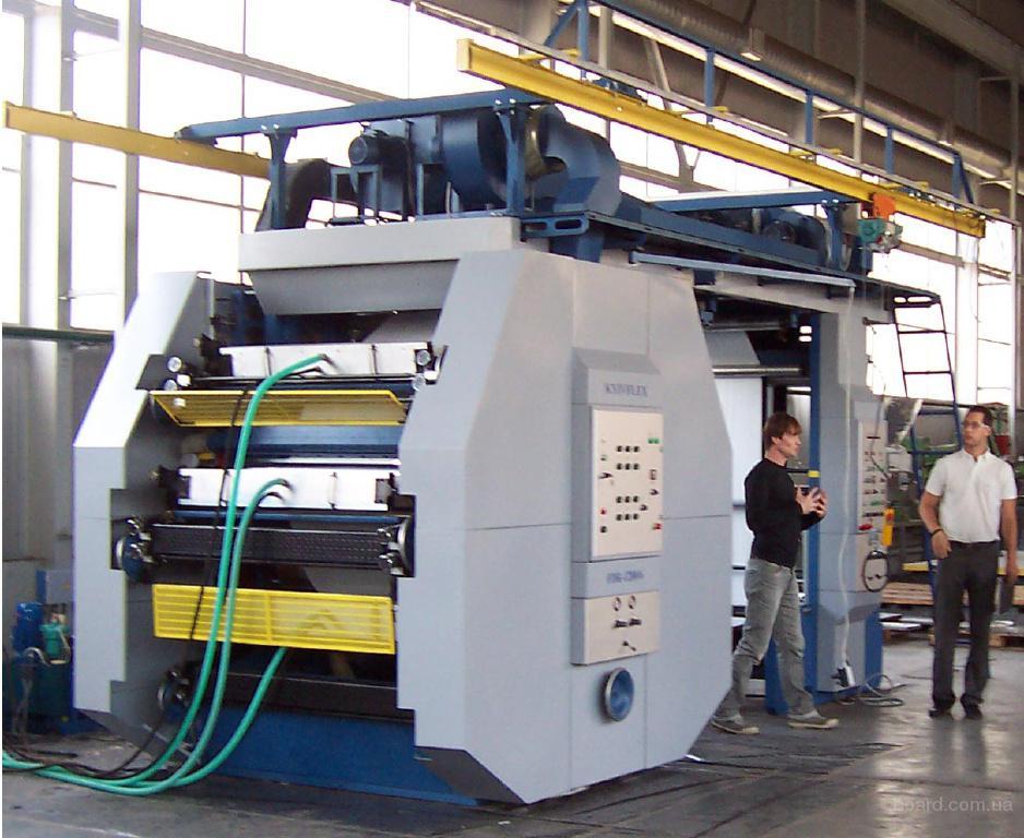 флексопечатная 6-ти красочная широкорулонная машина с центральным печатным цилиндром