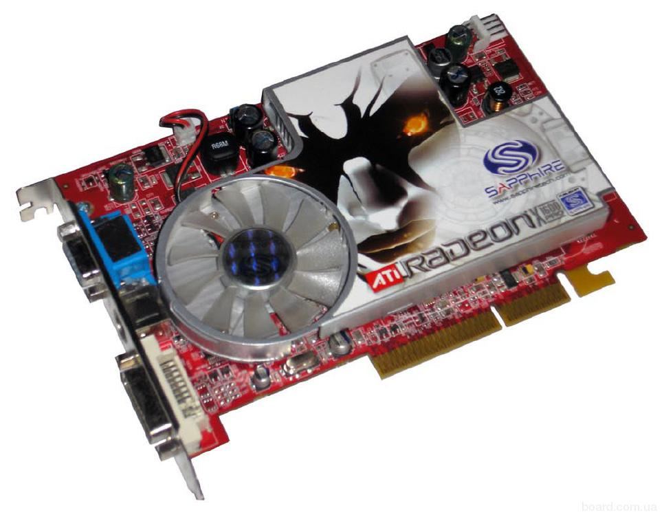 Видеокарта ati radeon x1650 pro 590мгц 512мб sapphire (agp, gddr2, 128бит)