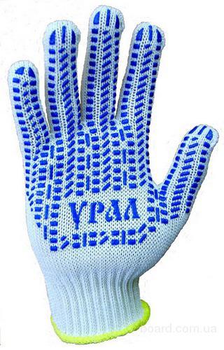 Перчатки полушерстяные с ПВХ, шт.  Трикотажные перчатки х/б полностью облегают руки, это способствует более...