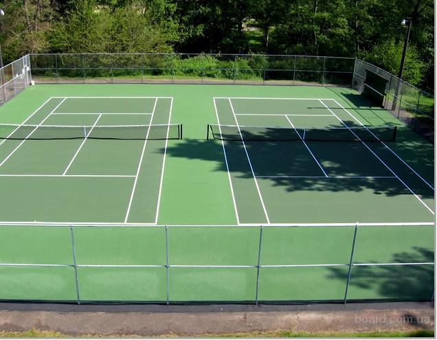 Теннисные корты своими руками