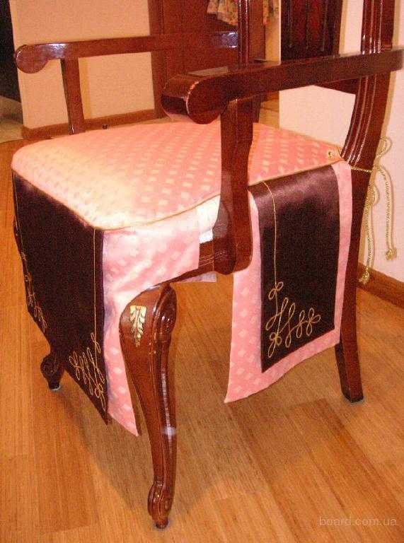 Кожаные чехлы на стулья своими руками