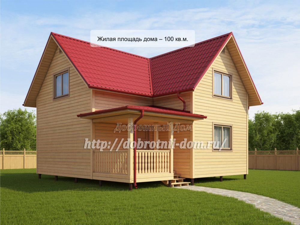 Строительство домов (бань) из бруса с мансардой от компании «Добротный Дом»