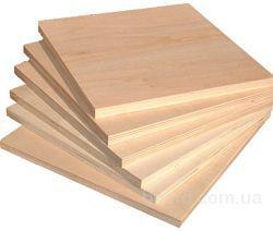 Фанера и другие плитные материалы для производства мебели.