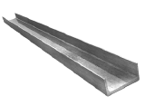 Алюминиевый швеллер 240х60х12
