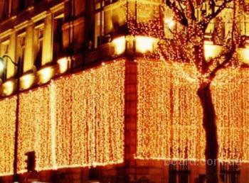 световые гирлянды занавесы фото