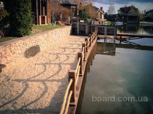 Укрепление берега у загородного дома - надёжность и эстетичность.