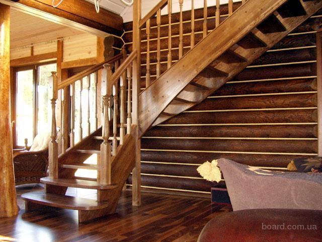Изготовление  лестниц, дверей из натурального дере