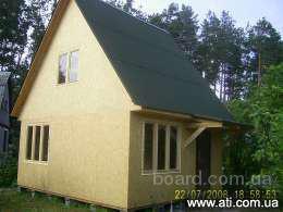 каркасно-щитовой домик 50м2