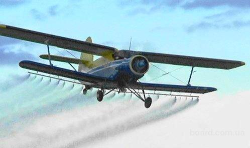 Опрыскивание полей с самолета ан-2