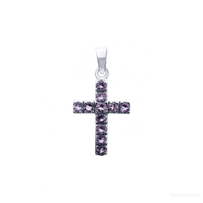 """Серебряные крестики с камнями от компании """"925 Silver Jewellery"""""""