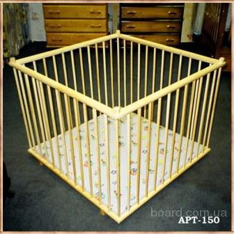 манеж деревянный детский 1х1м