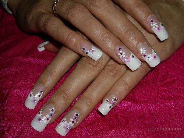 Декор на гелевых ногтях видео