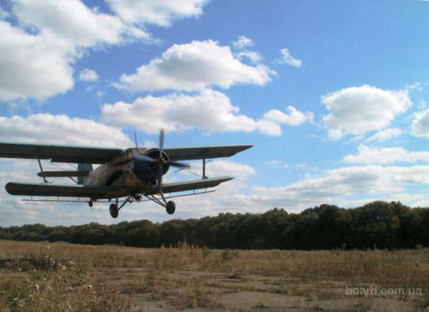Десикация подсолнечника самолетами Ан-2 и Бекас
