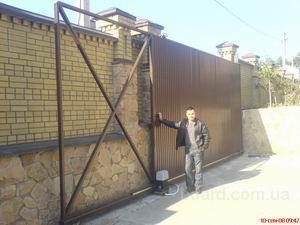 Самодельные распашные ворота своими руками