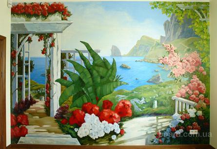 Художественная роспись стен - фото 1.