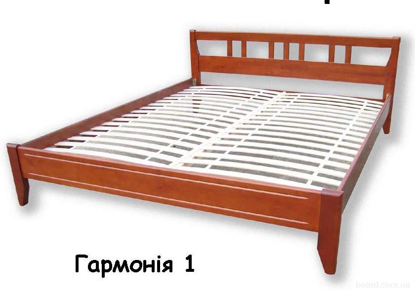 двухспальные кровати из дерева Гармония