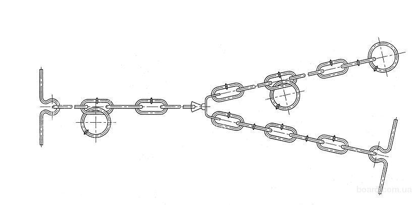 Продам цепи трехконцевые для привязи КРС