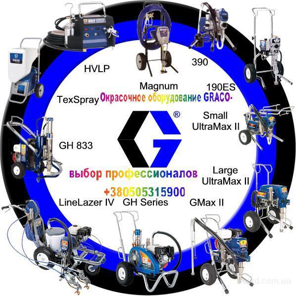 Окрасочное и пескоструйное оборудование Graco,Sina