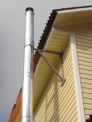 Труба для дымохода газового котла изготавливается из нержавеющей.