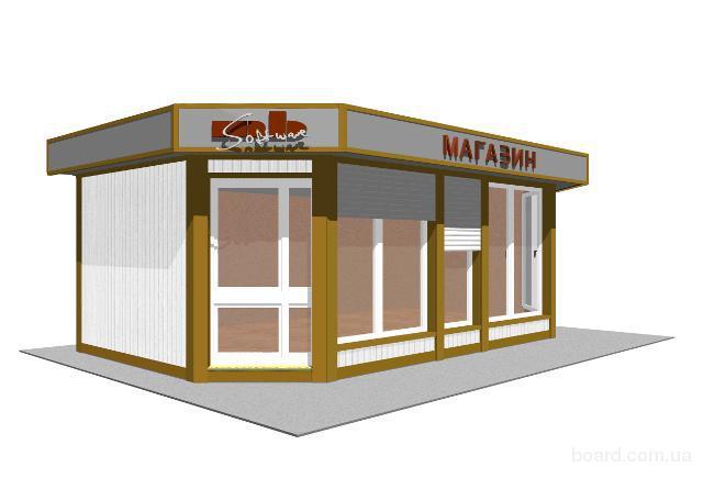 Строительство магазинов, торговых павильонов и кафе под ключ, используя технологию ЛСТК (легкая стальная оцинкованная...