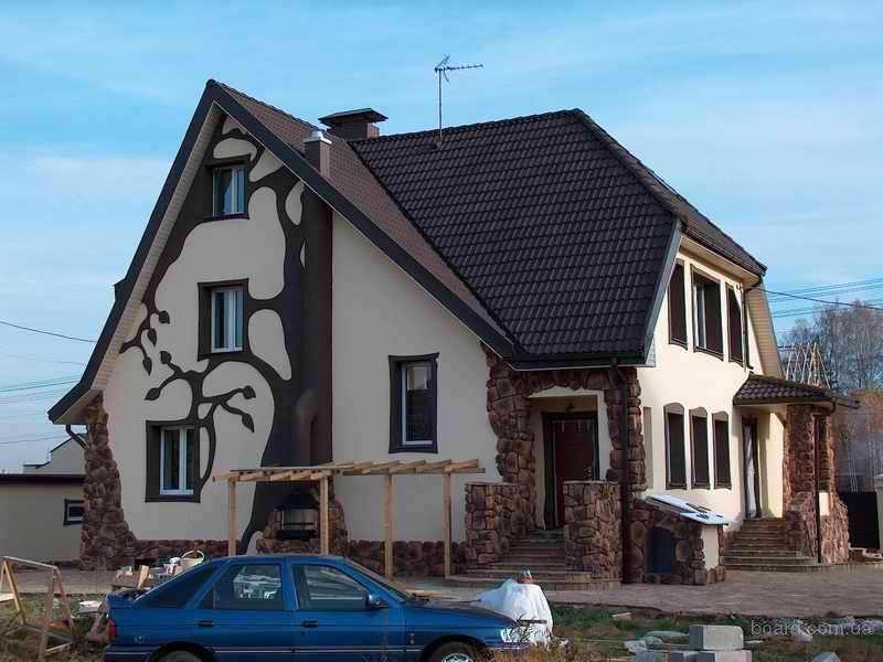 Покраска фасада дома своими руками фото дизайн