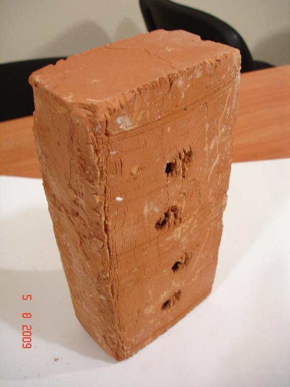 кирпич керамический общепромышленный полнотелый рядовой марки М-100
