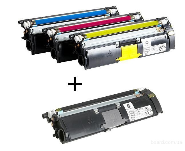 Заправка цветных картриджей HP и Konica Minolta
