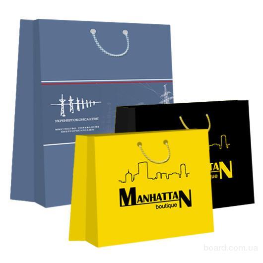 Пакеты бумажные с логотипом - печать и изготовление.