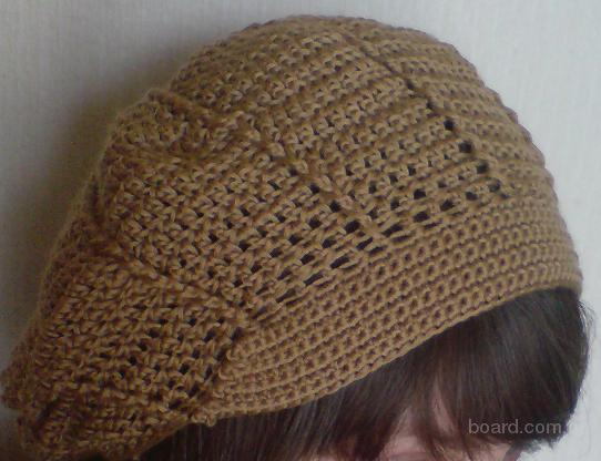 береты шапочки спицами - Вязание.