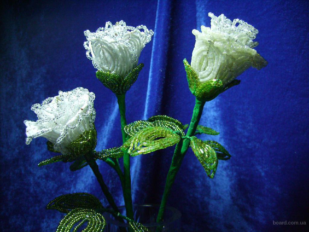 Цветы букеты из бисера - продам. купить.
