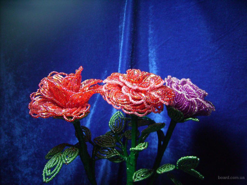 Цветы букеты из бисера продам