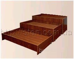 Кровать трёхъярусная (пенал