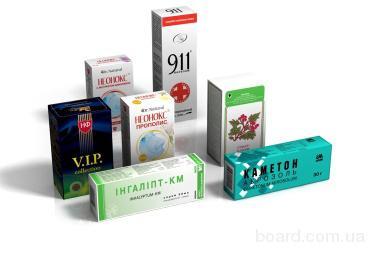 Картонная упаковка в Киеве для лекарств и лектрав
