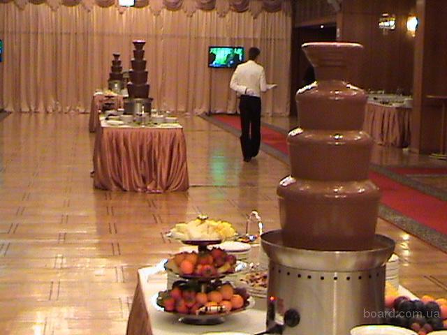 шоколадный фонтан на свадьбу, на выпускной вечер