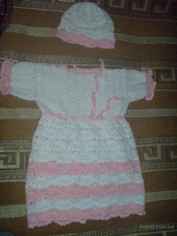 Вязанная кофточка спицами для ребенка до года.