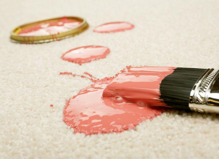 Как удалить пятна краски с ковра