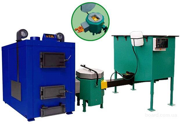 Газогенераторная установка (сжигатель), производит газ и тепловую энергию из отходов деревообработки (древесная щепа...