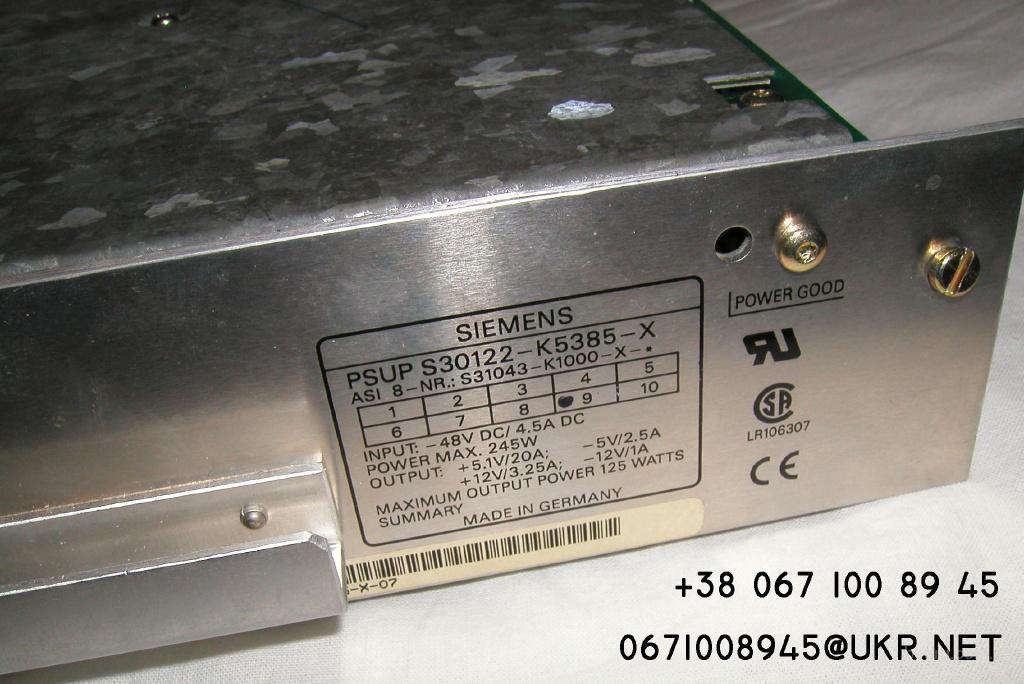 Ремонт блоков питания Siemens PSUP S30122-K5385-X »