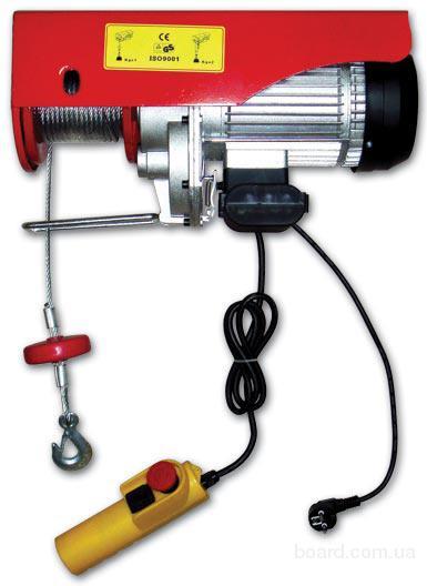 Таль электрическая (лебедка) стационарная PA-500А 220В г/п 0,5т на двух ветвях троса, высота подъема 6м г/п 0,25т на...