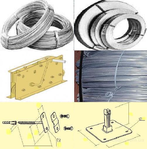 Проволока для громоотводов 6,0-8,0-10,0мм, полоса, крепеж - для обустройства молниезащиты домов, промышленных объектов. Мотки по 50 кг.