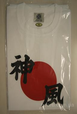 """Компания  """"JBC Ukraine """" предлагает футболки из Японии (изображение - японская символика: иероглифы, майко-сан, дворец..."""