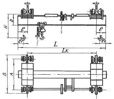 Тяговое усилие механизма передвижения крана - 25Н.  L. т. h. Н. А. Краны...