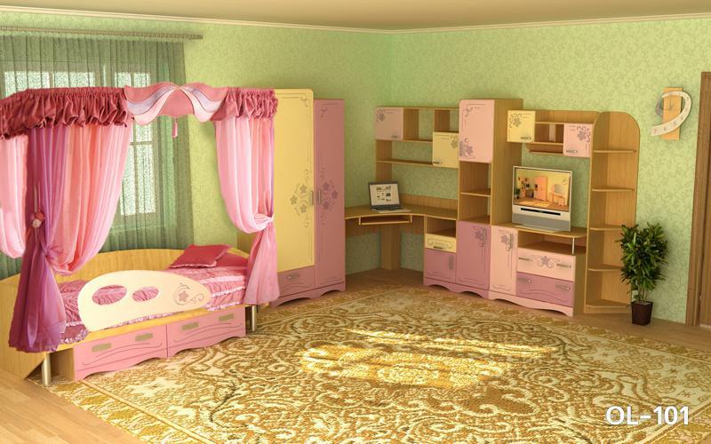 Оригинальный дизайн детской мебели, качество и элегантность - основные достоинство новой модели для девочек