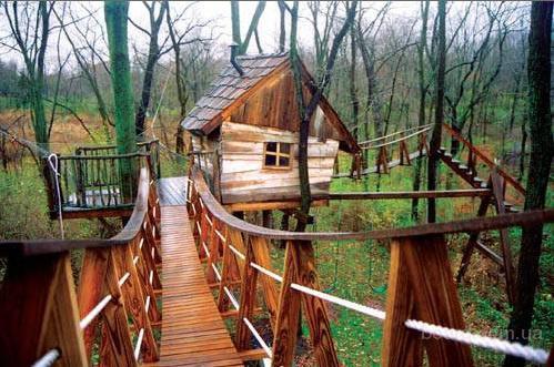 Дома на деревьях игровые домики для