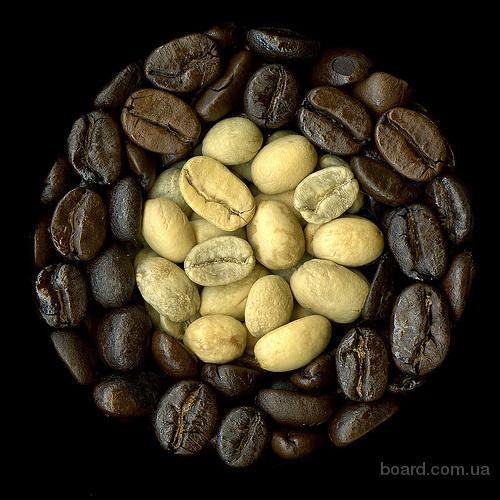 Продам зеленый (сырой) кофе, жаренный в зернах и м