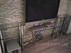 Стеклянные полки под телевизор, для современных плазменных панелей, LCD телевизоров...