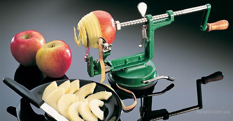 Приспособление для чистки,нарезки яблок.