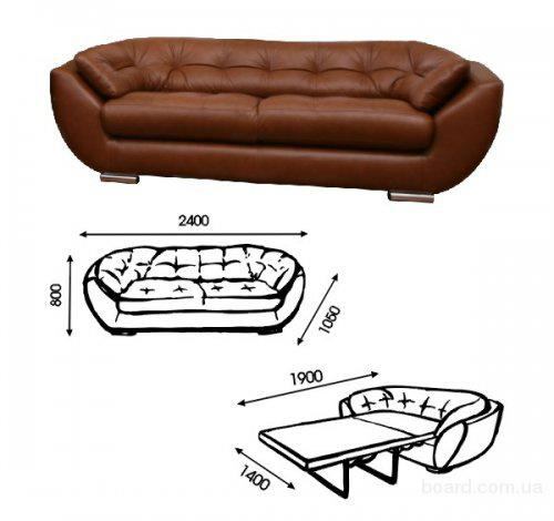 Раскладной диван Принц выполнен в строгом классическом стиле и подойдет для...